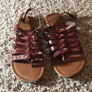 Mossimo supply brown leather strappy sandals